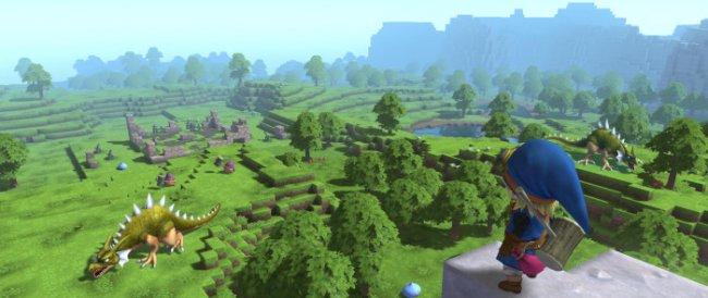 El aspecto de Dragon Quest Builders tiene claras semejanzas con Minecraft